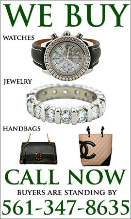 We buy watches, jewelry, handbags