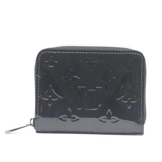 aac2fbe75fcc Louis Vuitton Zippy Coin Purse Noir Magnetique Vernis Black Wallet ...