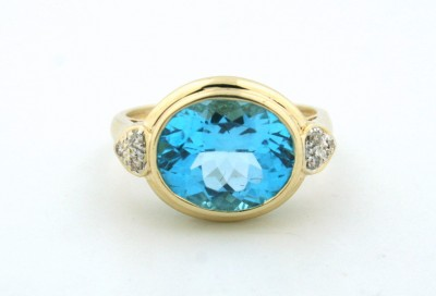 pre-owned blue topaz ring, used topaz ring, pre-owned ring boca raton