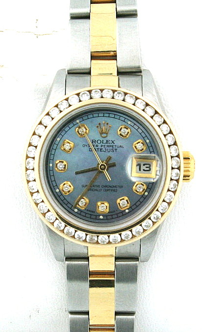 pre-owned rolex datejust 79173, used ladies rolex boca raton, pre-owned two tone datejust boca raton, used 79173, pre-owned 79173
