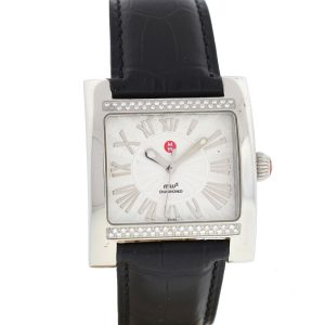 Michele Stainless Steel Mw2 Mw07c01 Diamond Ladies Watch