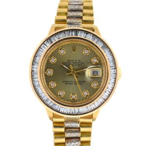Rolex 6917 18k Yellow Gold Ladies President Diamond Watch