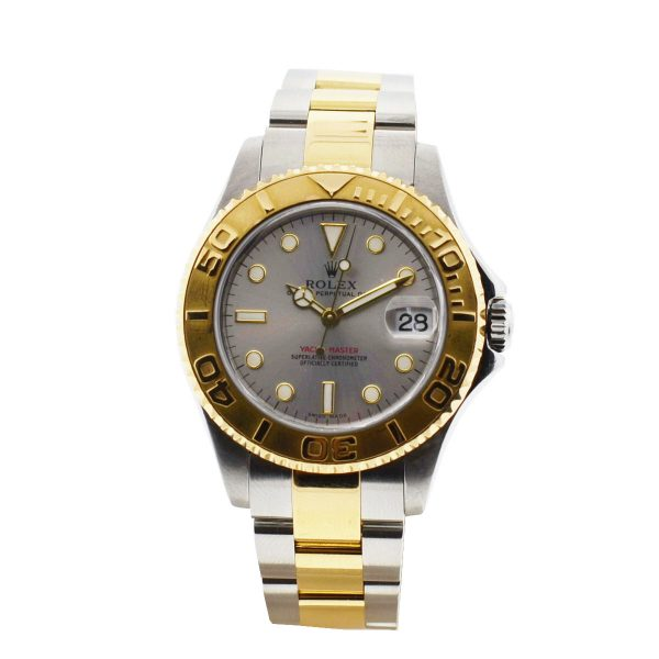 rolex midsize two tone yachtmaster