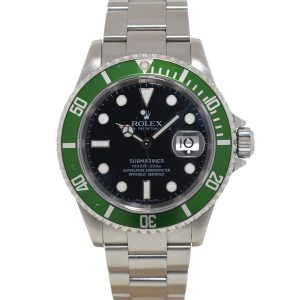 Rolex 16610LV 50th Anniversary Kermit Green Bezel Submariner Watch