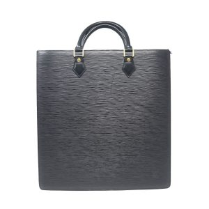 Louis Vuitton Sac Plat Black Epi Leather Tote Handbag