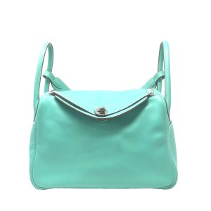HERMES Lindy 30 Lagoon Turquoise Shoulder bag With Receipt
