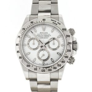 Rolex 116520 Daytona Stainless Steel White Dial Automatic Watch