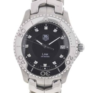 TAG Heuer Black Link Stainless Steel Diamond Dial Men's Quartz Watch