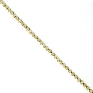 14k Yellow Gold Diamond Tennis Bracelet 2.6 Cts