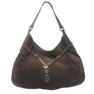 Tod's Brown Suede Shoulder Bag