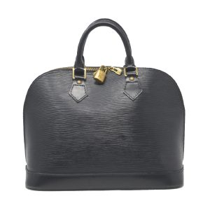 Louis Vuitton Alma Black Epi Handbag