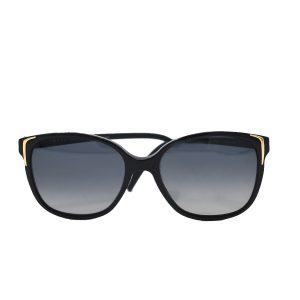 Prada Black and Gold Polarized SPR 010 Sunglasses