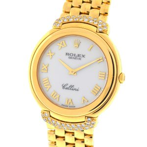 Rolex 6623 Diamond Cellini 18k Yellow Gold Ladies Watch