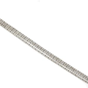 18k White Gold 3 Strand Diamond Bracelet 3.45 Cts