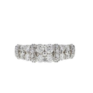 The Leo 14k White Gold 2 Row Diamond Ring 1.25 Cts
