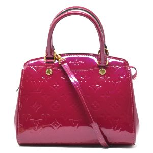 Louis Vuitton Brea PM Magenta Vernis Patent Leather Tote