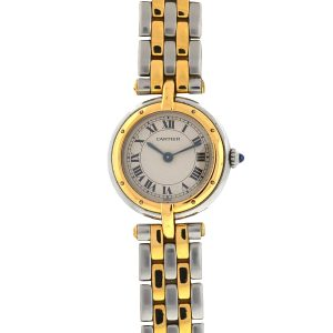 Cartier Two Tone Panthere Vendome Round Head Quartz Watch