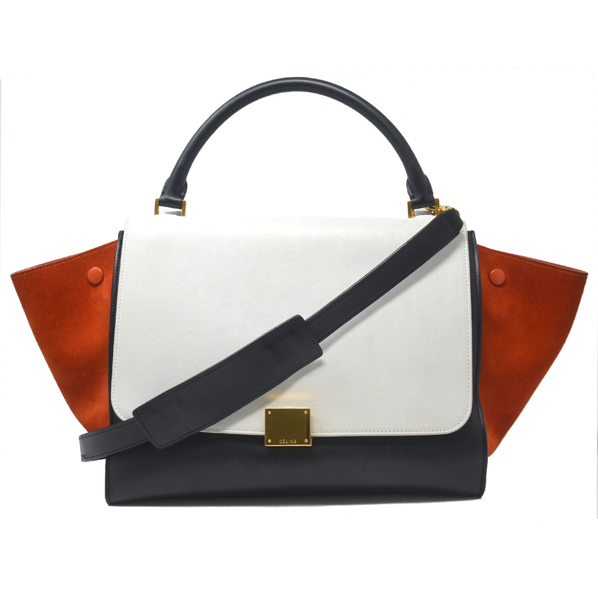 aa2a855f3ebc Yükle (600x265) · Celine Trapeze Medium Tri-Color Suede and Leather Handbag  For Sale at 1stdibs