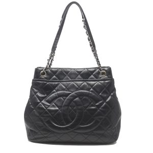 CHANEL Timeless CC Soft Quilted SHW Black Leather X-Large Tote Handbag