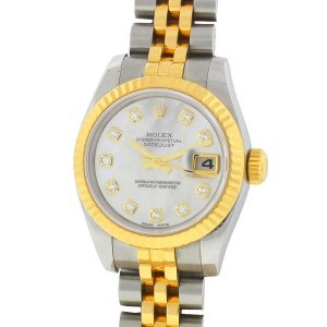 Rolex 179173 Datejust Two Tone MOP Diamond Dial Automatic Ladies Watch