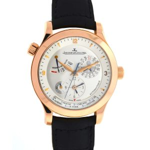 Jaeger Lecoultre 18k Rose Gold Master Control Geograph Watch