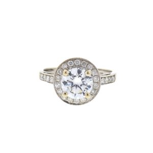 14k White Gold Diamond Setting Engagement Ring .75 Cts TW