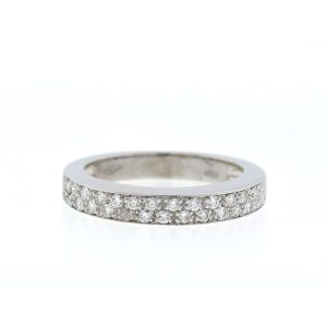 18k White Gold Diamond Band .58 Cts TW