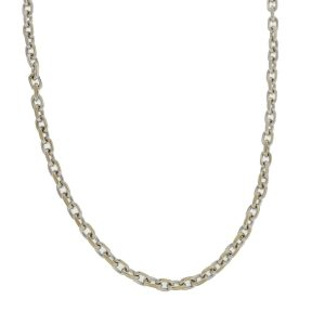 18k White Gold Link Chain Necklace
