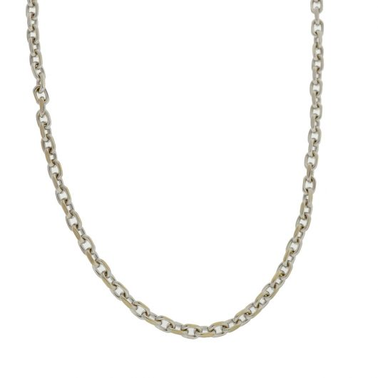 deb210aca82 18k White Gold Link Chain Necklace - Boca Pawn