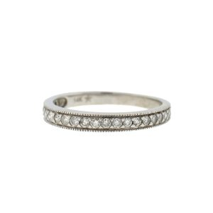 14k White Gold Diamond Band .21 Cts TW