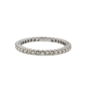 14k White Gold Diamond Eternity Band Ring .45 Cts TW