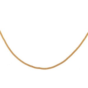 18k Yellow Gold Thin Chain Link Necklace