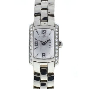 Baume & Mercier Stainless Steel Diamond Bezel Ladies Watch