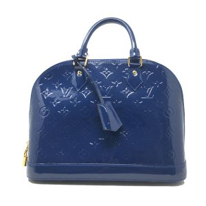 Louis Vuitton Alma PM Grand Bleu Vernis Handbag