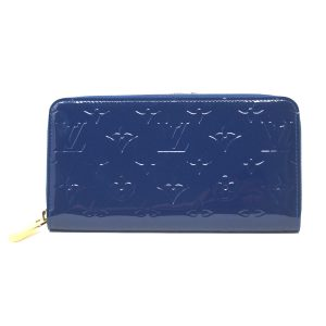 Louis Vuitton Grand Bleu Vernis Zippy Wallet