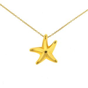 Tiffany & Co. Elsa Perretti 18k Yellow Gold Starfish Pendant Necklace