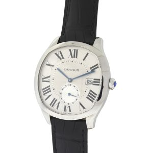 Drive De Cartier Stainless Steel White Dial Men's Watch