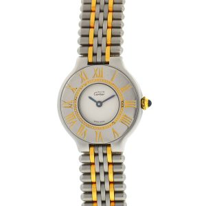 Cartier Must 21 Ladies Two Tone Watch