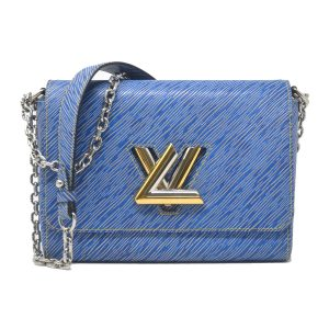 Louis Vuitton Epi Twist MM Denim Shoulder Bag