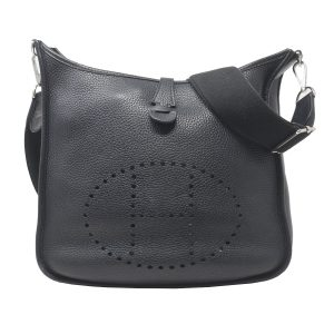HERMES Evelyne III PM Black 2016 Shoulder Bag