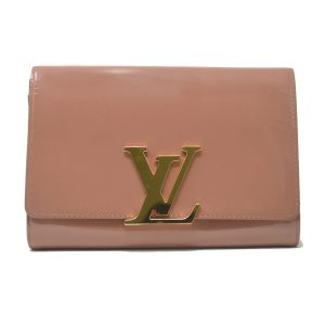Louis Vuitton Rose Velours Vernis Patent Leather Louise Clutch