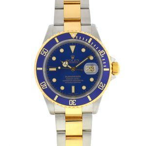 Rolex 16613 Two Tone Submariner Blue Dial Men's Watch