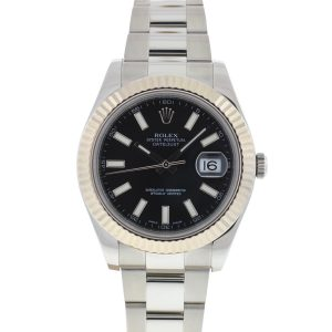 Rolex 116334 Datejust II 41mm Stainless Steel Black Dial Automatic Watch