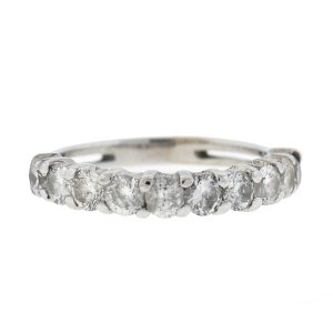 14k White Gold Diamond Wedding Band Ring Approx .50 TCW
