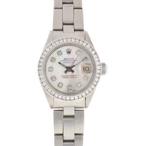 Rolex 6917 Datejust 26mm Aftermarket Mother of Pearl Diamond Dial & Bezel Watch