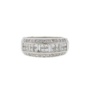 LeVian 18k White Gold Diamond Ring 1.00 TCW