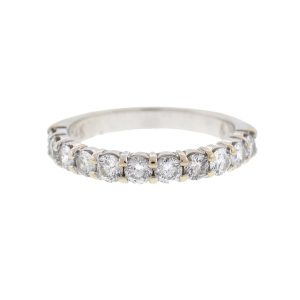 14k White Gold Diamond Wedding Band Ring Approx 1.10TCW