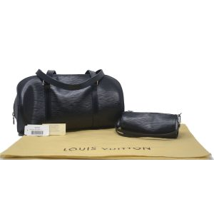 Louis Vuitton Soufflot Black Epi Leather Shoulder bag With Pouch