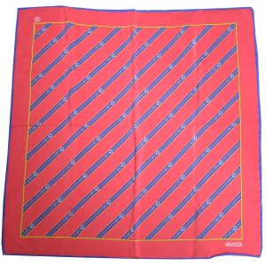 Gucci Red and Blue Pocket Scarf