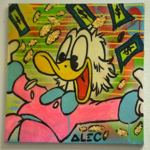 "Authentic Original Alec Monopoly Acrylic ""SCROOGE"" Painting With COA 2011"